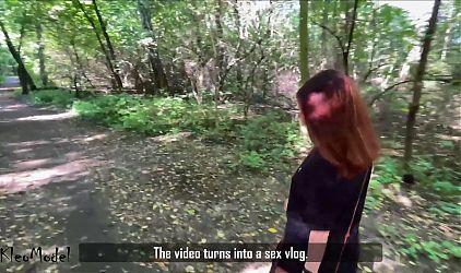 Sex Vlog #1 Public BJ and Creampie – KleoModel