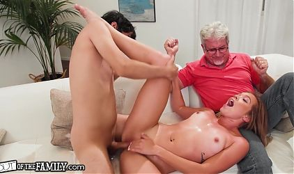Katie Kush Gets Drilled Hard In Front Of Her Pervert Stepdad