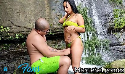 Leyne Rodriguez. Pussy Creampie in a beautiful paradise.